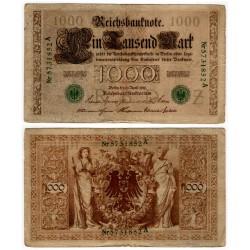 (45b) Imperio Alemán. 1910. 1000 Mark (BC+)