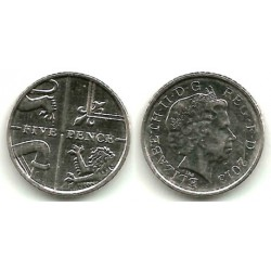 Gran Bretaña. 2013. 5 Pence (EBC)