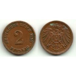 (16) Imperio Alemán. 1910(A). 2 Pfennig (MBC+)