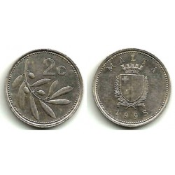 (94) Malta. 1995. 2 Cents (MBC+)