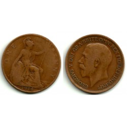(810) Gran Bretaña. 1916. 1 Penny (BC)