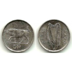 (28) Irlanda. 1996. 5 Pence (EBC)