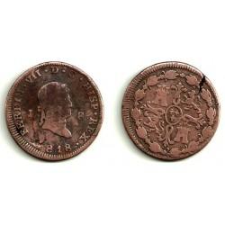Fernando VII. 1818. 8 Maravedi (RC) Ceca de Jubia