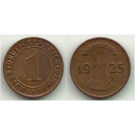 (37) Imperio Alemán (Weimar). 1925(J). 1 Pfennig (BC+)