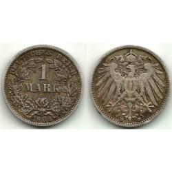 (14) Imperio Alemán. 1904(D). 1 Mark (MBC) (Plata)