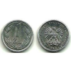 (Y49.3) Polonia. 1990. 1 Zloty (EBC+)
