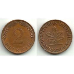 (106a) Alemania. 1970(D). 2 Pfennig (MBC)
