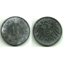 (26) Imperio Alemán. 1920. 10 Pfennig (MBC)