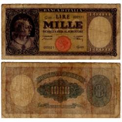 (82) Italia. 1947. 1000 Lira (RC+) Roturas