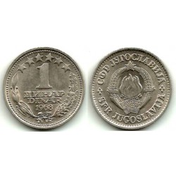 (48) Yugoslavia. 1968. 1 Dinar (EBC)