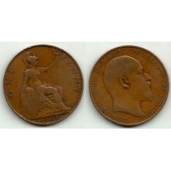 (794.2) Gran Bretaña. 1907. 1 Penny (BC)
