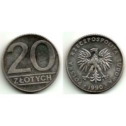 (Y153.2) Polonia. 1990. 20 Zlotych (EBC)