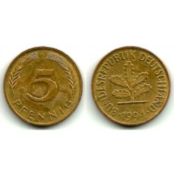 (107) Alemania. 1994. 5 Pfennig (MBC)