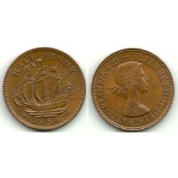 (868) Gran Bretaña. 1954. Half Penny (MBC)