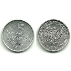 (YA46) Polonia. 1970. 5 Groszy (MBC+)