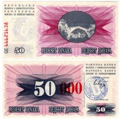 (55h) Bosnia-Hercegovina. 1993. 50000 Dinara (SC) Sarajevo