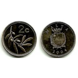 (94) Malta. 2004. 2 Cents (SC)