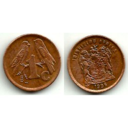 (158) Sudáfrica. 1996. 1 Cent (MBC)