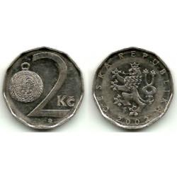 (9) República Checa. 2002. 2 Koruny (MBC)