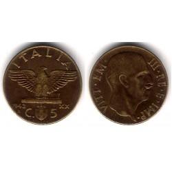 (73a) Italia. 1942(R). 5 Centesimi (MBC+)