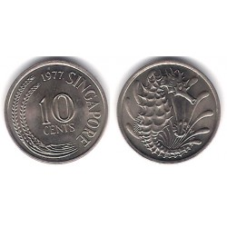 (3) Singapur. 1977. 10 Cents (SC)