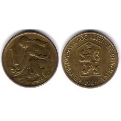 (50) Checoslovaquia. 1969. 1 Koruna (EBC)