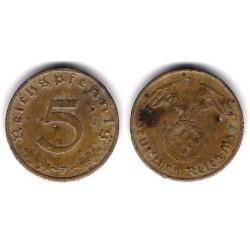 (91) Alemania (III Reich). 1938(F). 5 Pfennig (BC)