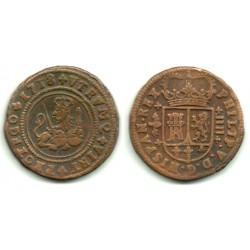 Felipe V. 1718. 4 Maravedi (BC+) Ceca de Valencia
