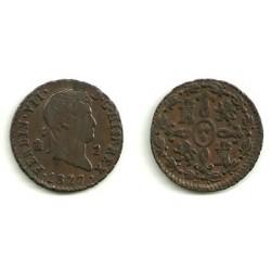 Fernando VII. 1827. 2 Maravedi (MBC) Ceca de Segovia