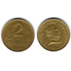 (104.1) Uruguay. 1994. 2 Pesos (MBC+)