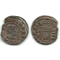 Felipe IV. 1663. 4 Maravedi (BC) Ceca de Madrid Y