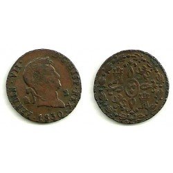 Fernando VII. 1830. 2 Maravedi (MBC) Ceca de Segovia