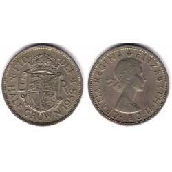 (907) Gran Bretaña. 1958. Half Crown (MBC)