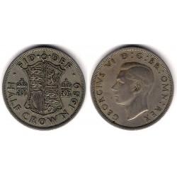 (866) Gran Bretaña. 1950. Half Crown (MBC+)
