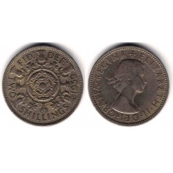 (906) Gran Bretaña. 1959. 2 Shilling (BC)