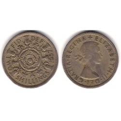 (906) Gran Bretaña. 1957. 2 Shillings (BC)