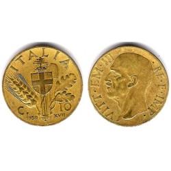 (74) Italia. 1939(R). 10 Centesimi (MBC)