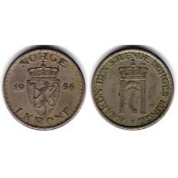 (397.2) Noruega. 1956. 1 Krone (BC+)
