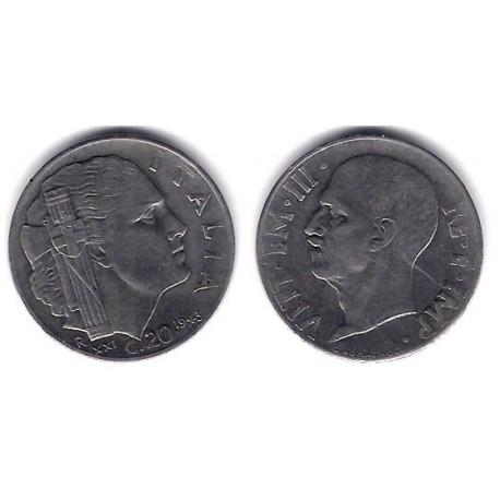 (75b) Italia. 1943. 20 Centesimi (MBC+)