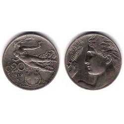 (44) Italia. 1912(R). 20 Centesimi (MBC+)