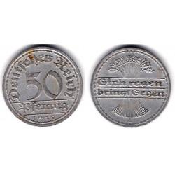 (27) Imperio Alemán (Weimar). 1919(A). 50 Pfennig (MBC-)
