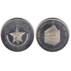 (37) Cuba. 1975. 10 Pesos (SC-) (Plata)