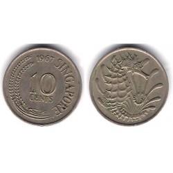 (3) Singapur. 1967. 10 Cents (MBC)