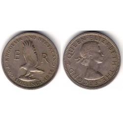 (6) Rhodesia & Nyasaland. 1956. 2 Shillings (MBC+)