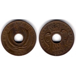 (37) África Oriental. 1957. 5 Cents (SC)
