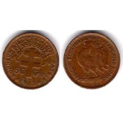 (1a) África Ecuatorial Francesa. 1943. 50 Ctmes (MBC-)