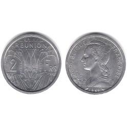 (8) Reunión. 1969. 2 Francs (SC)