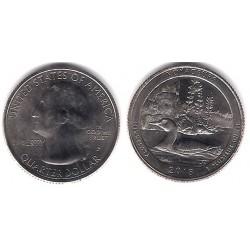 Estados Unidos de América. 2018(P). Quarter Dollar (SC) Voyageurs