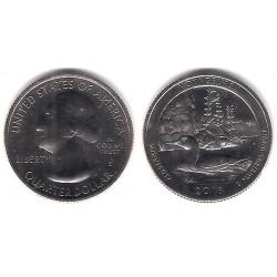 Estados Unidos de América. 2018(S). Quarter Dollar (SC) Voyageurs