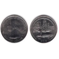 Estados Unidos de América. 2018(D). Quarter Dollar (SC) Voyageurs